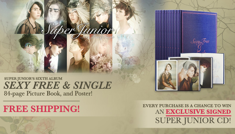 "[Soompi Shop] Super Junior's ""Sexy, Free & Single"" Album – Win a Signed CD!"