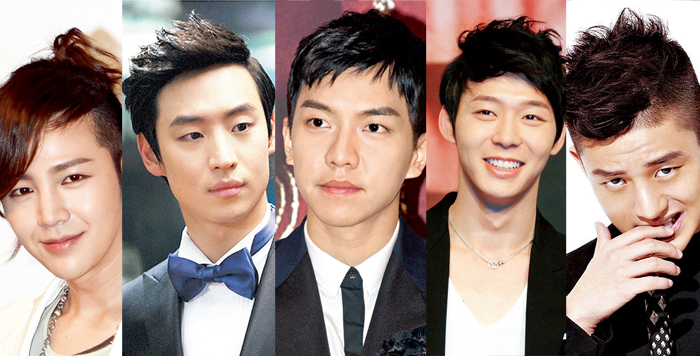 [Ceci] Who Has the Hottest Hairstyle: Jang Geun Suk, Lee Jae Hoon, Lee Seung Gi, Park Yoo Chun or Yoo Ah In?