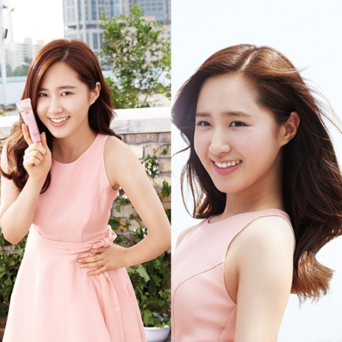 SNSD's Yuri Looking Gorgeous in a Peach Colored Dress