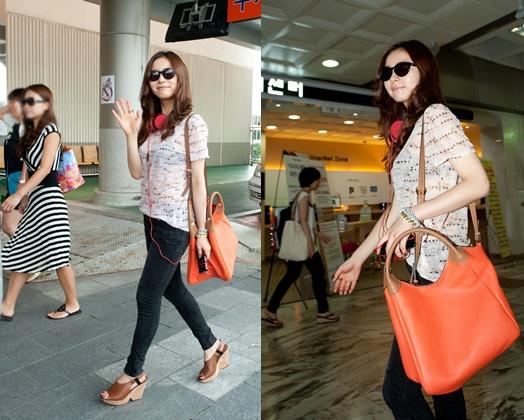 Shin Se Kyung's See-Through Airport Fashion