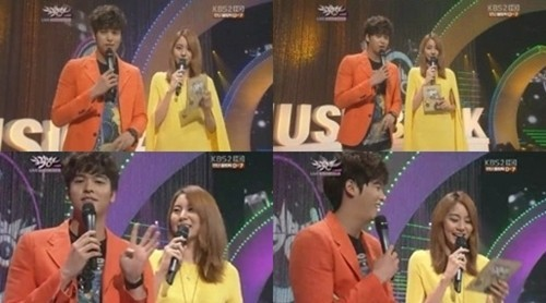 "Uee Makes Mistakes in Her ""Music Bank"" MC Role"