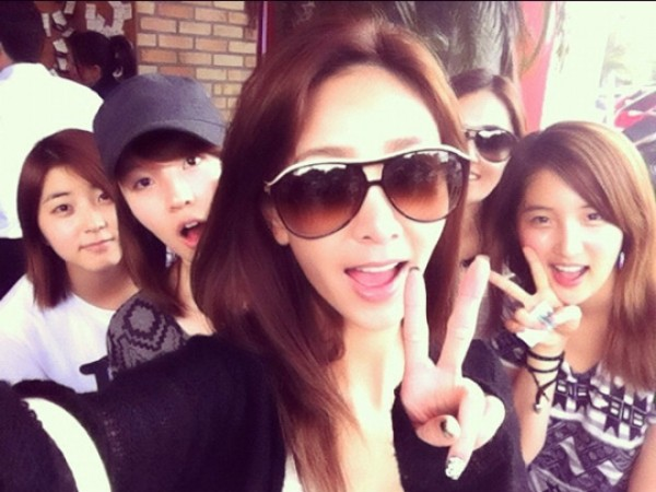 Selca of 4minute and G.NA in Busan Revealed