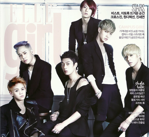 "Beast Poses for ""Elle Girl"" Magazine"