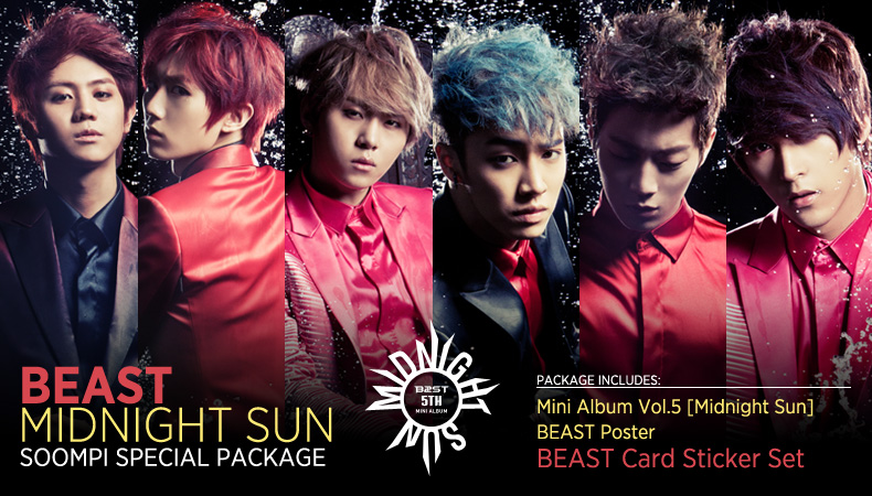 "[Soompi Shop] BEAST's ""Midnight Sun"" Special Package!"