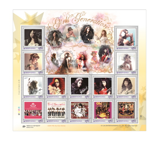 Official Girls' Generations Stamps to Release in August