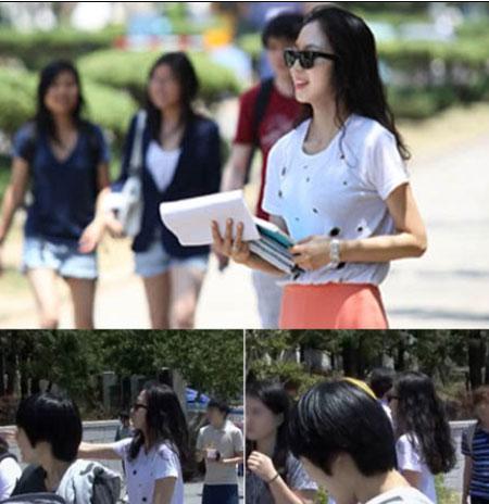 Han Ye Seul Spotted at Yonsei University?