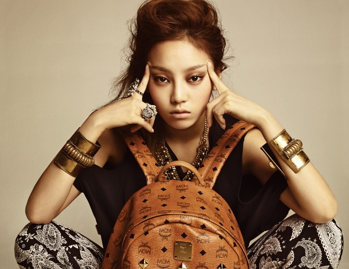 Goo Hara Shows off Her New Bag