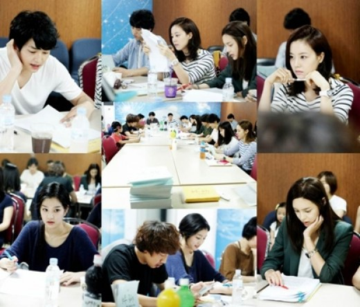 "Song Joong Ki and Moon Chae Won Meet for ""Nice Guy"" Script Reading"