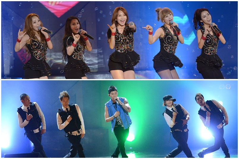 Kara and Jay Park Perform at MTV World Stage Live In Malaysia 2012