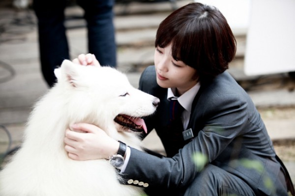 """Still Photos of Sulli with a Dog from """"To the Beautiful You"""" Revealed"""