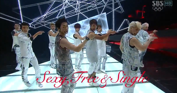 "Super Junior Performs ""Sexy Free & Single"" on Inkigayo"