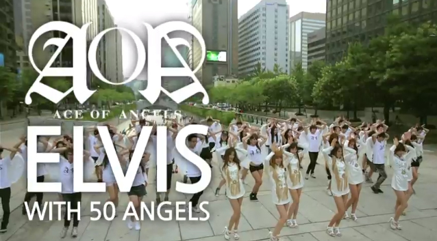 AOA Reveals Video of Their Flashmob Events