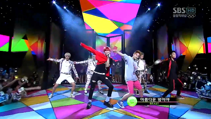 "BEAST Performs ""Beautiful Night"" on Inkigayo"