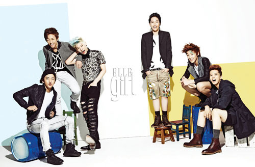 B.A.P Shows Energy and Charisma through Elle Girl Pictorial