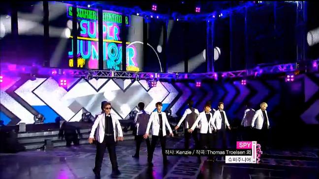 "Super Junior Performs ""SPY"" on Music Core"