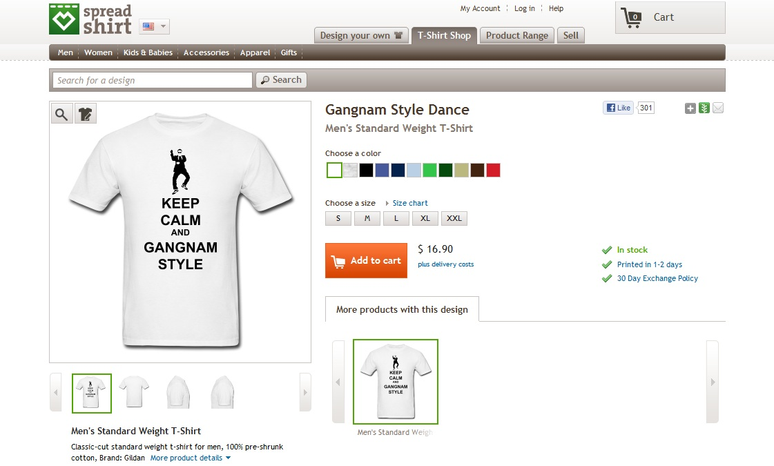 "PSY's ""Gangnam Style"" T-Shirt Sold on German Online Store"