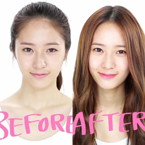 f(x) Krystal's Before and After Makeup Photos – Can You Tell the Difference?