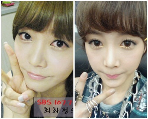 T-ara's Soyeon: Before and After Circle Lens