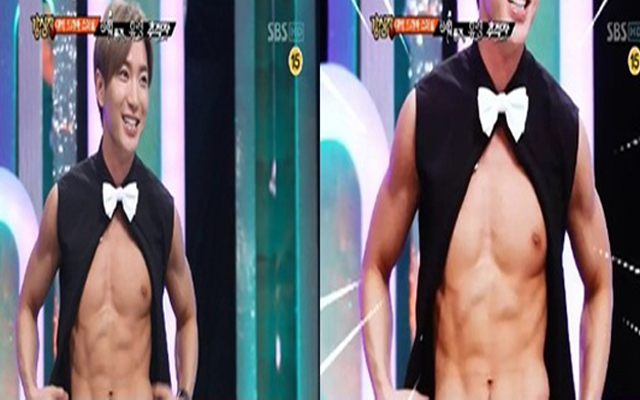 Super Junior's Leeteuk Shows Off His Six Pack on Strong Heart