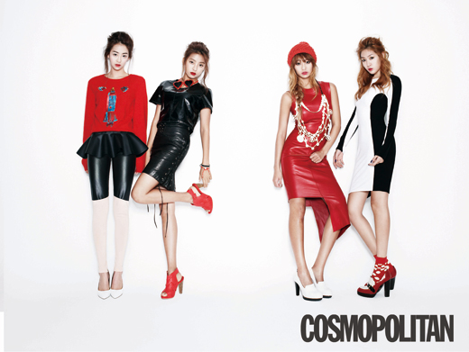 "SISTAR Goes Red for ""Cosmo MEN"" Magazine"