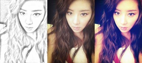 Park Han Byul Flaunts Perfect V-Line With SelCa Set