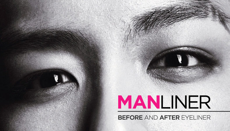Male Idols: Before and After Manliners