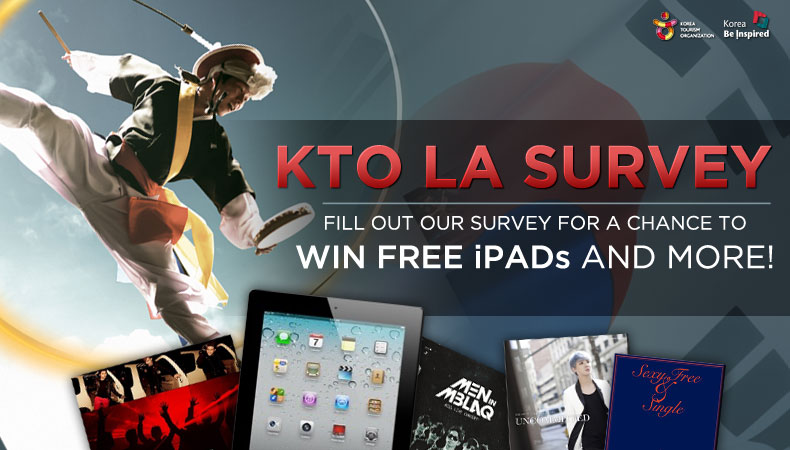 Fill out KTO's Survey and Seize Your Chance to Win Free iPads, K-Pop CDs, and Much More!