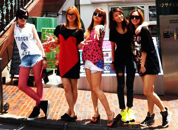 miss A and the Wonder Girls Go Shopping in Tokyo