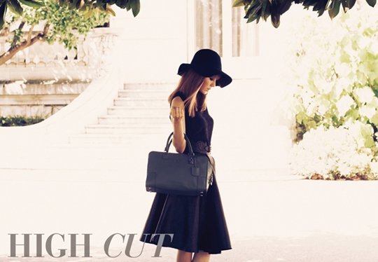 """Kim Ha Neul is a Golden-Haired Femme Fatale for """"High Cut"""""""