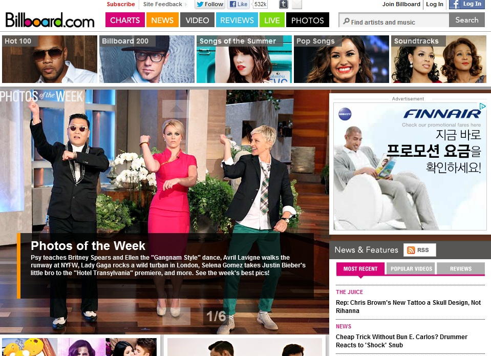 "PSY Tops ""Photos of the Week"" by Billboard.com"