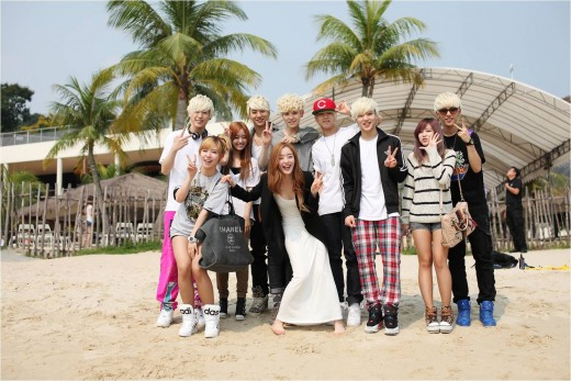 "B.A.P and Secret Snap Shot with ""Brownie"""