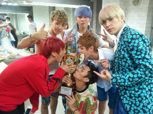 BEAST Posts Group Photo for Hyunseung's Birthday on Twitter