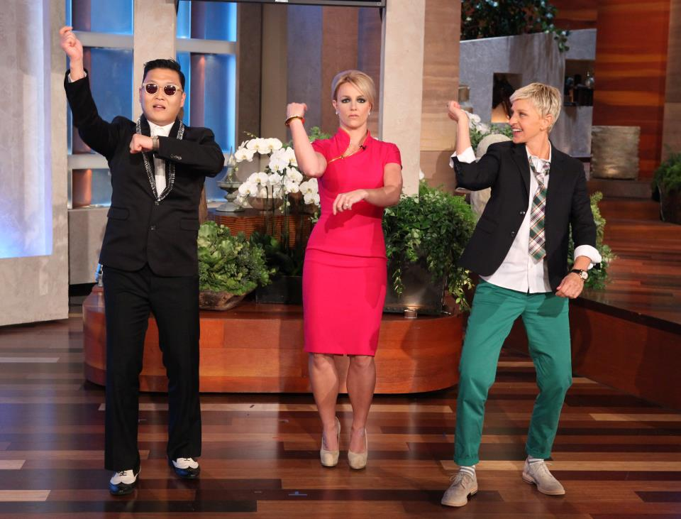 """Don't Hold It Against Her, Britney Spears Dances """"Gangnam Style"""" with Psy on """"The Ellen DeGeneres Show"""""""