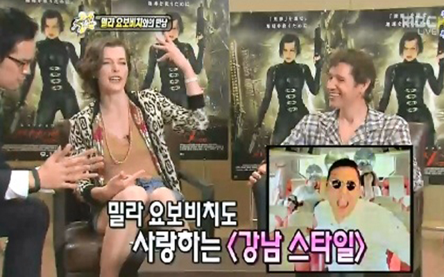 "Milla Jovovich Goes ""Gangnam Style"""