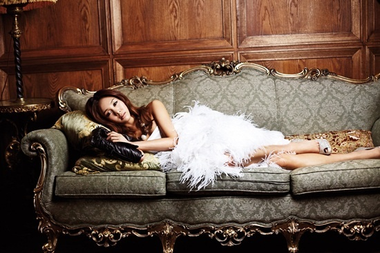 G.NA Flaunts Her Figure in Lingerie Endorsement