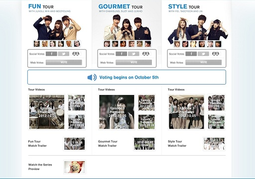 """2PM & miss A Enjoy """"Touch Korea Tour"""" with Fans! Watch & Vote for Your Favorite Team!"""