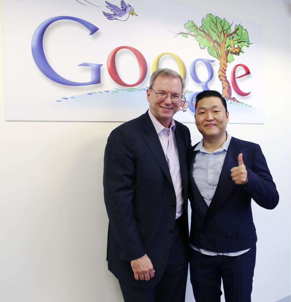 PSY Meets and Dances with Google Chairman Eric Schmidt