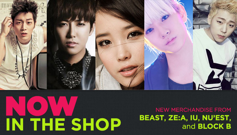 [Soompi Shop] New Merchandise from BEAST, Block-B, IU, NU'EST, and ZE:A!