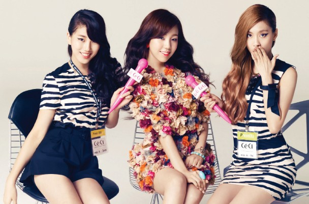 """miss A and Baek Ah Yeon Pose for """"CeCi"""" Magazine"""