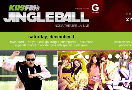 """Psy and the Wonder Girls to Perform at KIIS-FM's """"Jingle Ball Show"""""""
