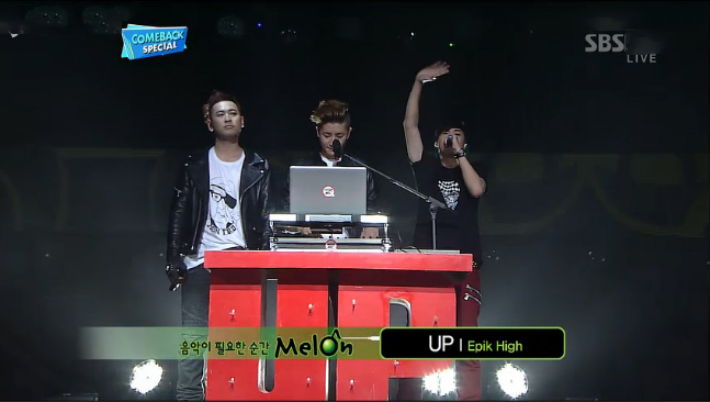"""Epik High Performs """"Don't Hate Me"""" & """"Up"""" for Inkigayo Comeback Stage"""