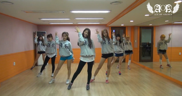 """AOA Reveals Dance Practice Video for """"Get Out"""""""