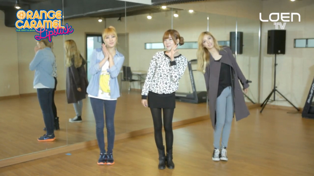 "Orange Caramel Teaches Their Choreography for ""Lipstick"""