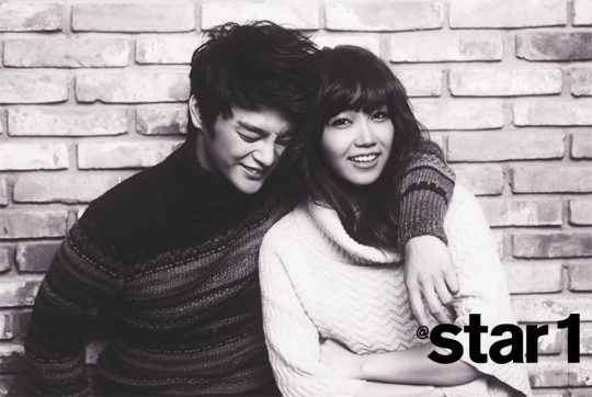 More of Seo In Gook and Jung Eun Ji's Couple Photo Shoot for @star1