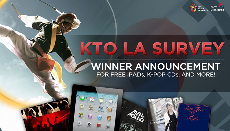 KTO Announces Winners for Survey Event – Find Out the Winners for Free iPads and K-Pop CDs!