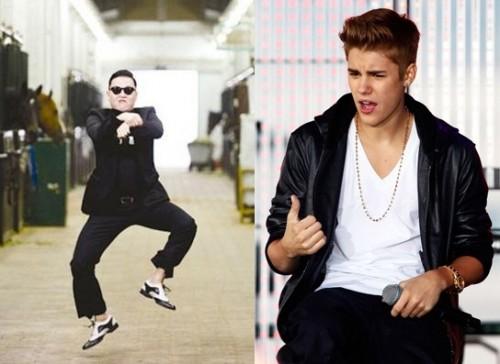 Psy and Justin Bieber Exchange Friendly Tweets