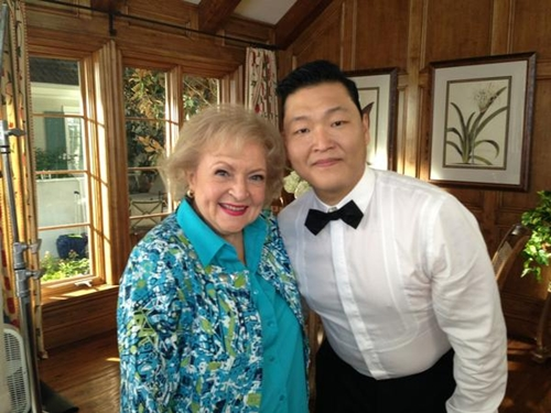 PSY Meets Betty White