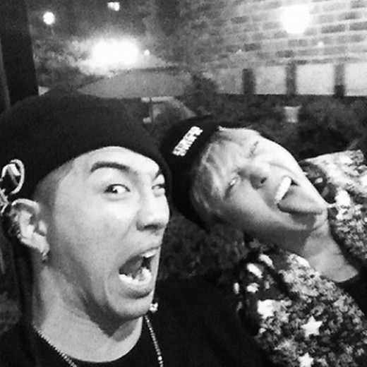 G-Dragon and Taeyang Play with the Bearded Blond Look
