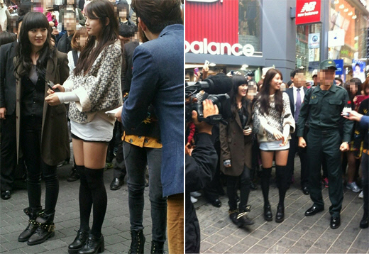 miss A's Suzy and Jia Spotted in Myeongdong