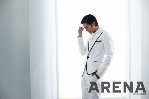 Joo Won Looks Suave in Black and White For Arena
